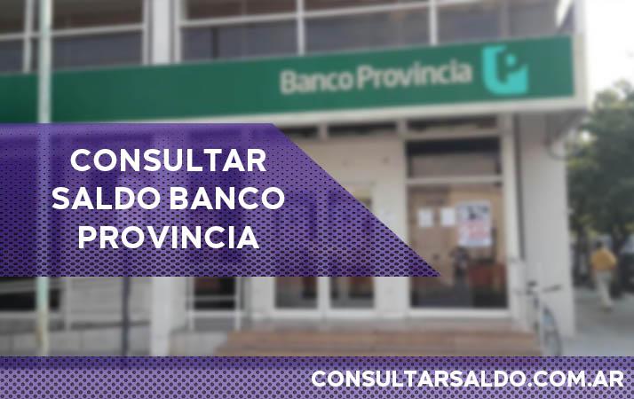 consultar saldo banco provincia