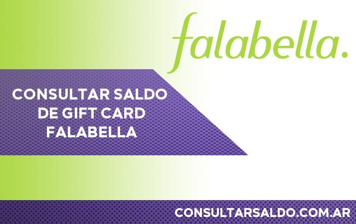 consultar saldo gift card falabella
