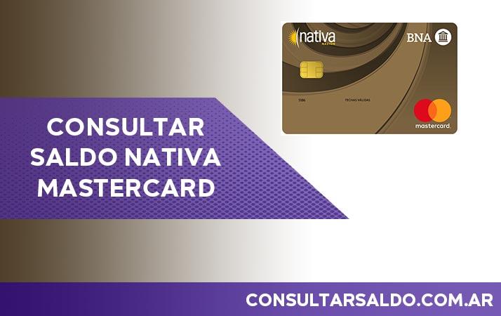 consultar saldo nativa mastercard