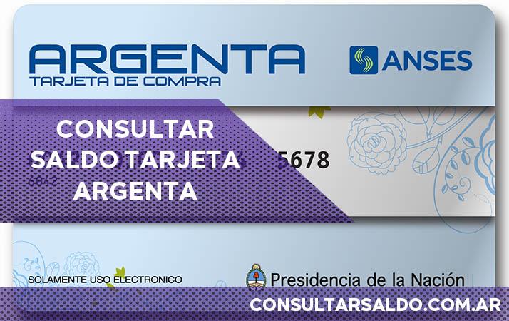 tarjeta argenta consultar saldo