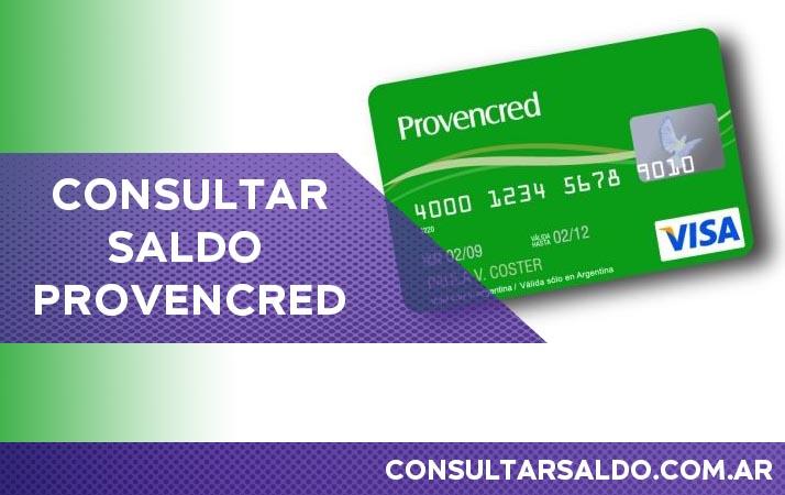 consultar saldo tarjeta provencred