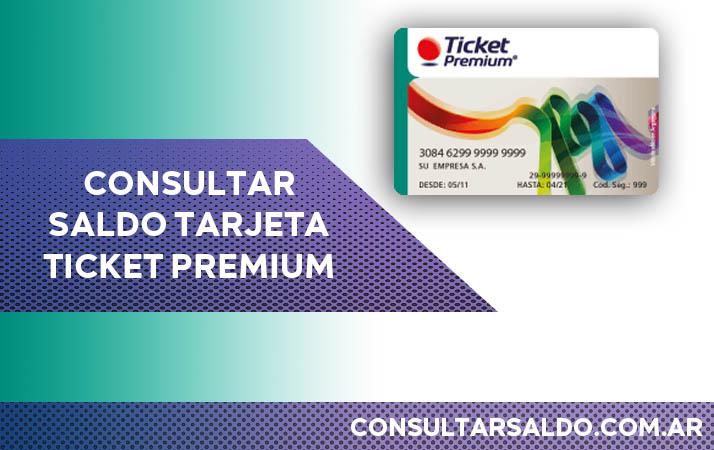 consultar saldo tarjeta ticket premium