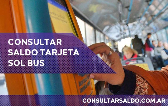consultar saldo tarjeta sol bus