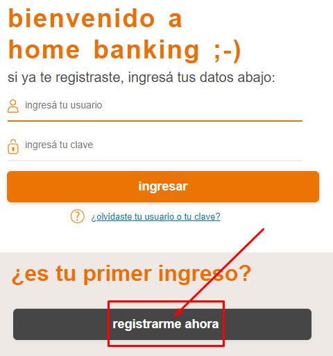 Registrarme en Itaú