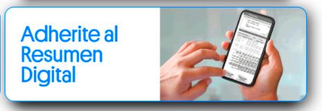 Adherirte al resumen digital de tarjeta Titanio
