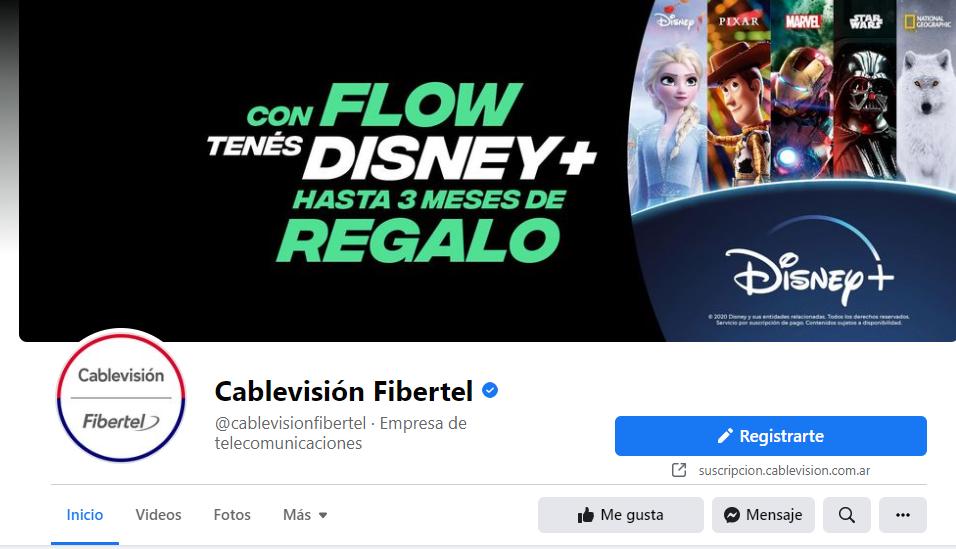 facebook cablevision fibertel
